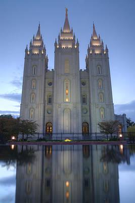 Lake Photograph - Salt Lake Temple by Dustin  LeFevre