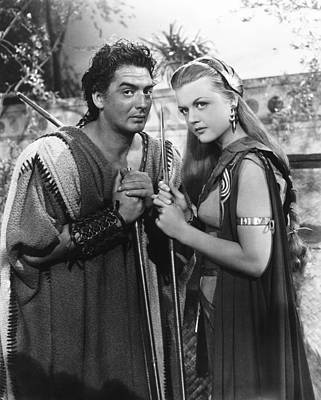 Samson And Delilah, From Left Victor Print by Everett