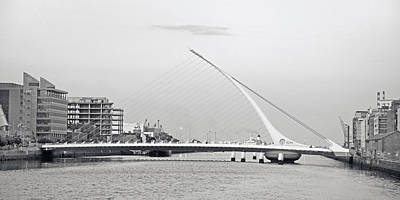 Samuel Beckett Bridge Dublin Ireland Print by Betsy C Knapp