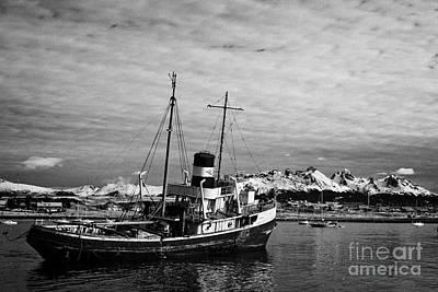 san cristobal saint christopher tugboat wreck in Ushuaia Argentina Print by Joe Fox