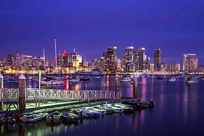 San Diego Photograph - San Diego Harbor by Joseph S Giacalone