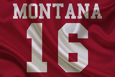 San Francisco 49ers Joe Montana Print by Joe Hamilton