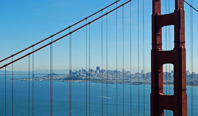 Sausalito Photograph - San Francisco Through Golden Gate Bridge by Twenty Two North Photography
