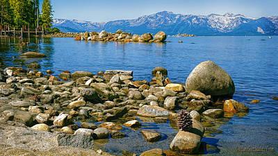 Rock Photograph - Sand Harbor Lake Tahoe by LeeAnn McLaneGoetz McLaneGoetzStudioLLCcom