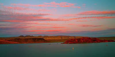 Purple Haze Photograph - Sand Hollow River  Sunset 1 by Gilbert Artiaga