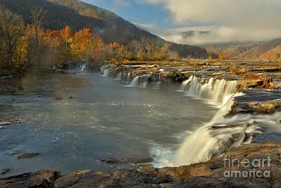 Landsacape Photograph - Sandstone Falls by Adam Jewell