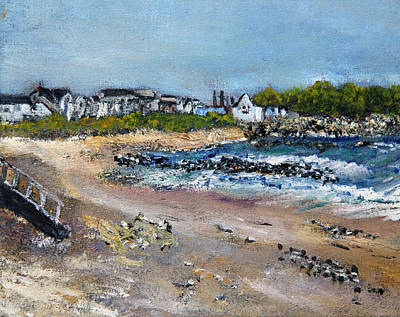 Incoming Tide Painting - Sandwich Town Beach by Michael Helfen