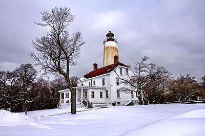 Base Path Photograph - Sandy Hook Lighthouse by Geraldine Scull