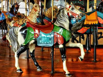 Antique Carousel Photograph - Santa Monica Carousel 003 by Lance Vaughn