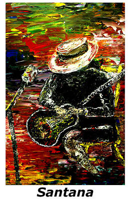Pallet Knife Painting - Santana  by Mark Moore