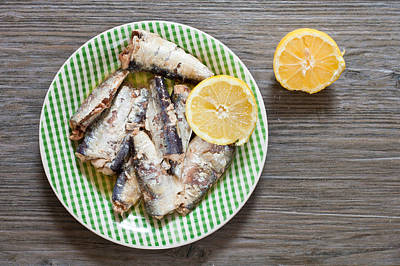 Rations Photograph - Sardines by Tom Gowanlock