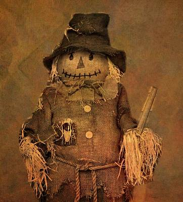 Crow Mixed Media - Scarecrow by Dan Sproul