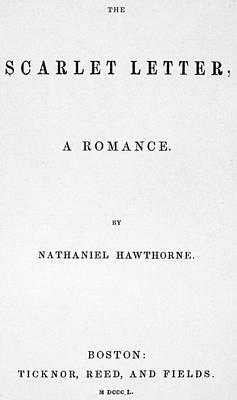 Novel Painting - Scarlet Letter, 1850 by Granger