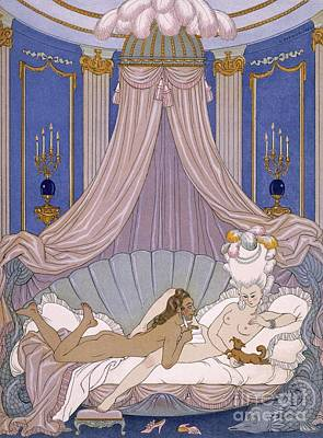 Wig Painting - Scene From 'les Liaisons Dangereuses' by Georges Barbier