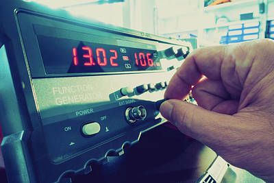 Scientist Using Machine Print by Wladimir Bulgar