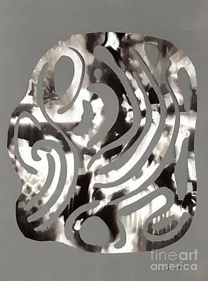 Scissor-cut Abstraction Print by Sarah Loft
