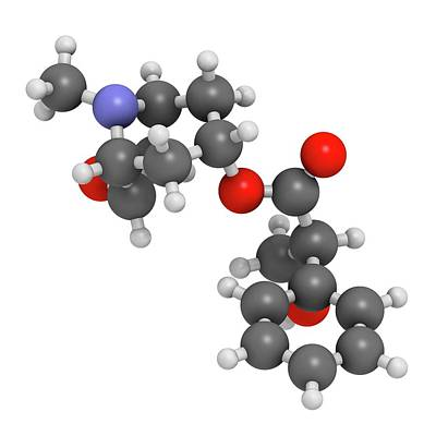 Scopolamine Anticholinergic Drug Molecule Print by Molekuul