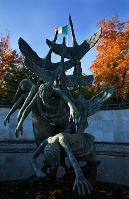 Sculpture Of The Children Of Lir Print by Panoramic Images