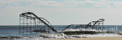 Seaside Heights Digital Art - Seaside Heights Roller Coaster  - Paint by Sami Martin