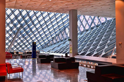 Seattle Library Reading Room 2 Print by Allen Beatty