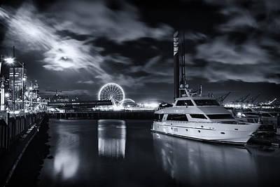 Puget Sound Photograph - Seattle Waterfront Marina by Tanya Harrison