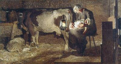 Segantini, Giovanni Battista 1858-1899 Print by Everett