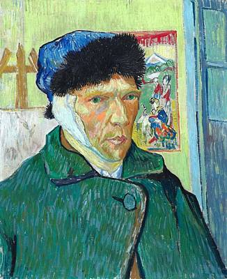 Bandages Painting - Self-portrait With Bandaged Ear by Vincent van Gogh