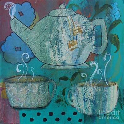 Tea Painting - Serene Tea by Robin Maria  Pedrero