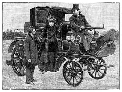 Serpollet Steam Car Print by Science Photo Library