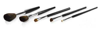 Set Of Makeup Brushes Print by Jorgo Photography - Wall Art Gallery