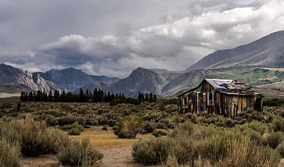 Shack Photograph - Shack In The Mountains by Cat Connor