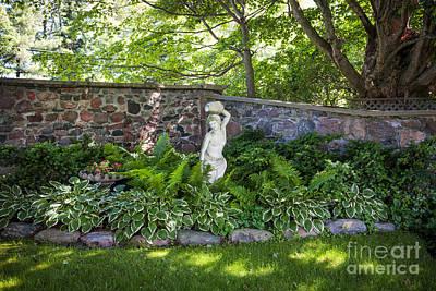 Shady Perennial Garden Print by Elena Elisseeva