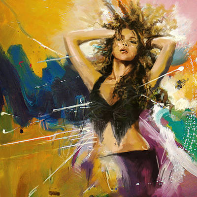 Belly Dancer Painting - Shakira by Corporate Art Task Force