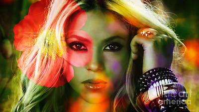 Shakira Mixed Media - Shakira by Marvin Blaine