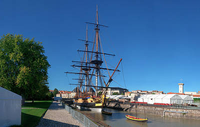 Ship Replica Of The Count De La Fayette Print by Panoramic Images
