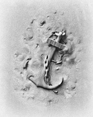 Carved Photograph - Ship's Anchor by Tom Mc Nemar