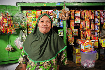 Working Conditions Photograph - Shopkeeper With Leprosy by Matthew Oldfield