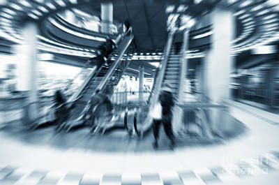 Finance Photograph - Shopping Center Rush by Michal Bednarek