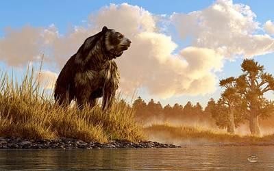 Ice Age Digital Art - Short Faced Bear by Daniel Eskridge