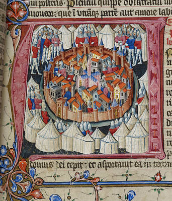 Siege Of Jerusalem Print by British Library