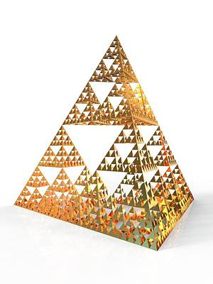 Fractal Geometry Photograph - Sierpinski Fractal Pyramid by Alfred Pasieka