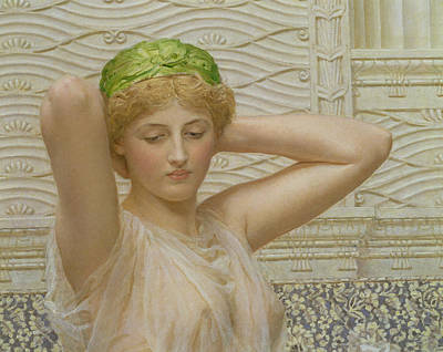 Silver Background Painting - Silver by Albert Joseph Moore