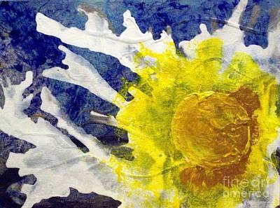 Silver Lining Sunburst Runny Side Up Original by Lelan Gimnick