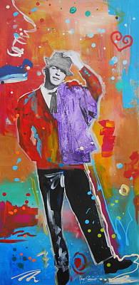 Peter Max Painting - Sinatra by Gino Savarino