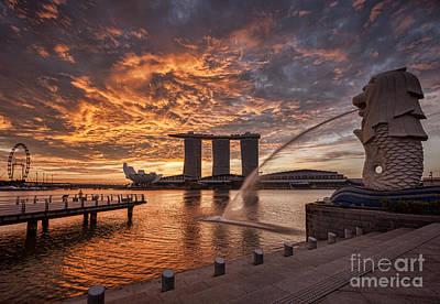Singapore Photograph - Singapore Skyline by Colin and Linda McKie