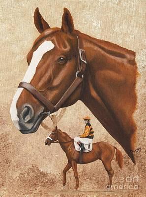 Barton Painting - Sir Barton by Pat DeLong