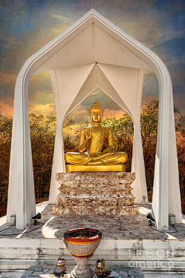 Incense Photograph - Sitting Buddha by Adrian Evans