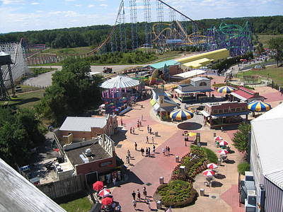 Six Flags America - 12122 Print by DC Photographer
