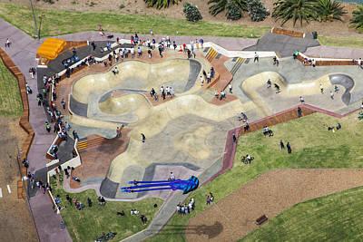 St.kilda Photograph - Skate Park At Marina Triangle Reserve by Brett Price