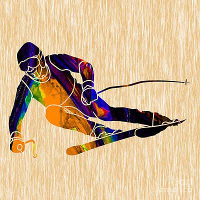 Ski Mixed Media - Ski Painting by Marvin Blaine